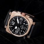 Full-function quartz square BR watch
