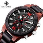 Casual Sport Wooden Business Quartz Watches