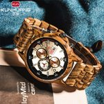 Date Display Casual Luxury Wood Quartz Watches