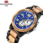 Fashion Casual Fashion Wood Blue Watch