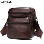 Shoulder Genuine Leather Male Crossbody Bags