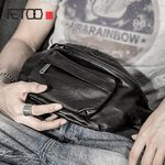 Vintage leather multi-functional chest bag
