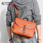 Casual leather plant tanning cowhide shoulder bag
