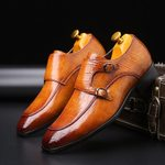 Crocodile Dress Shoes Leather Formal Social Oxford Shoes