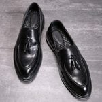 Leisure Soft Leather Casual Slip-On Tassel Dress Shoes