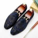 Genuine Cow Leather Brogue Wedding Casual Flats Shoes