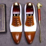 Genuine Leather Breathable Heels Wedding Oxfords Shoes