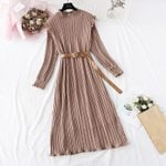 Vintage Chiffon Floral Midi Dress