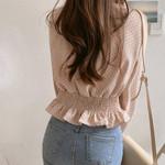 Bodycon V-neck Flare Sleeve Blouse Shirts