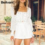 Fashion Square Collar Blouse and Shirts