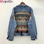 Boho Tassel Denim Jacket Vintage Embroidery