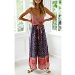 Boho Floral Print High Waist Jumpsuit