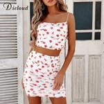 Romantic Two Piece Set Sexy Backless Mini Skirt