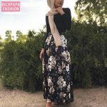 Plus Size Long Kimono Muslim Boho Skirts