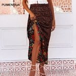 Bohemian Floral Printed A Line Long Maxi Skirt