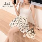Beach Chiffon Shorts Floral Print Wide Leg Boho