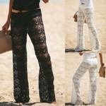 Female Lace Long Boho Loose Wide Leg Pants