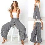 Boho Floral Long Pants Wide Leg Fashion