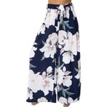 Floral Print Wide Leg Pants Long Casual Boho