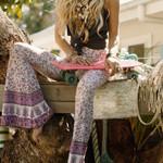 Boho Hippie High Waist Printed Wide Leg Long Pants