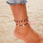 Bohemian Pearl Hand Woven Rope Ankle Bracelet