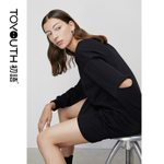 Hollow Out Sleeve Casual Embroidery Letter Dress