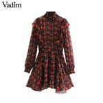 elegant floral long sleeve casual mini dresses