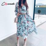 long casual floral boho dress