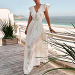 elegant white party maxi dresses