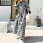Long Maxi Bohemian  Long Sleeve Shirt Dresses