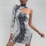 Sexy Turtleneck One Shoulder Dress