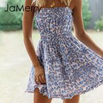Sexy leopard print Sleeveless mini dress