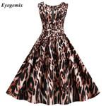 Sleeveless Casual Leopard Print Dress