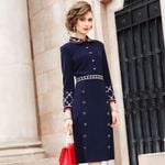 High street Lady Embroidery dress