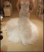 Bling Bling Crystal Beaded Mermaid Wedding Dresses