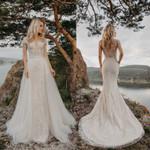 Chic Lace Mermaid Wedding Dress