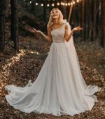 Design One Shoulder A Line Wedding Dress