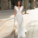 A-line Chiffon Cheap Sexy Wedding Dresses