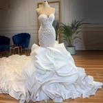 Sparkle Crystal Mermaid Wedding Dresses
