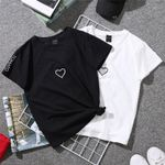 Couples Lovers Tops Solid Loose T Shirt