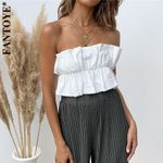 Mini Strapless Bow Tank Tops Casual Sleeveless