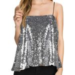 Sparkly Sequin Top Backless Sexy Tank Tops