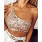 Sexy Clothing One-shoulder Tank Tops