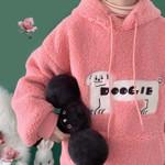 Dog Patch Embroidery Hoodie Sweatshirt