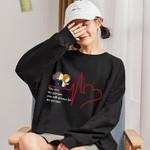 Print Sweatshirt Hoodies Casual Loose