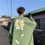 Oversized Flower Fleece Hoodies Sweatshirts
