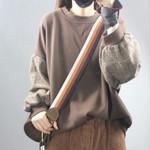 Vintage Patchwork Color Sweatshirts