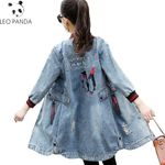 Embroidery Denim Jacket Coat