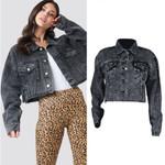 Jeans Jacket Fashion Black Boyfriend Jean Jacket