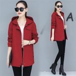 Coats Hooded Long-Sleeve Casual Windbreaker